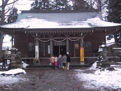 諏方神社本殿 初詣