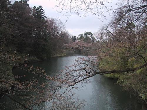 お堀(北側)