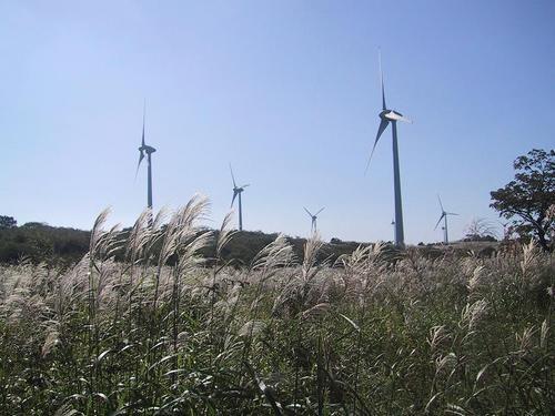 布引高原風力発電の風車3