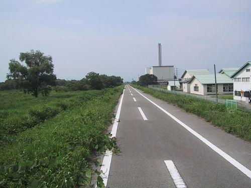 蟹川橋方面に向かって撮影