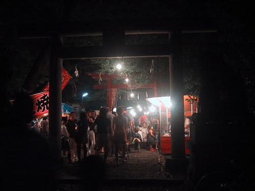 住吉神社お祭り夜