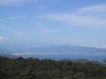 背あぶり山山頂より猪苗代湖を望む