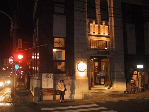 旧郡山商業銀行若松支店(セイロンティーガーデン)夜景