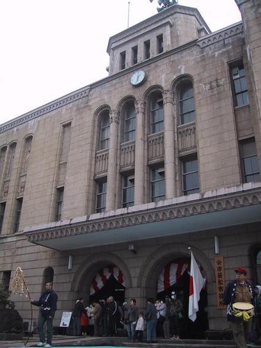 会津若松市役所正面